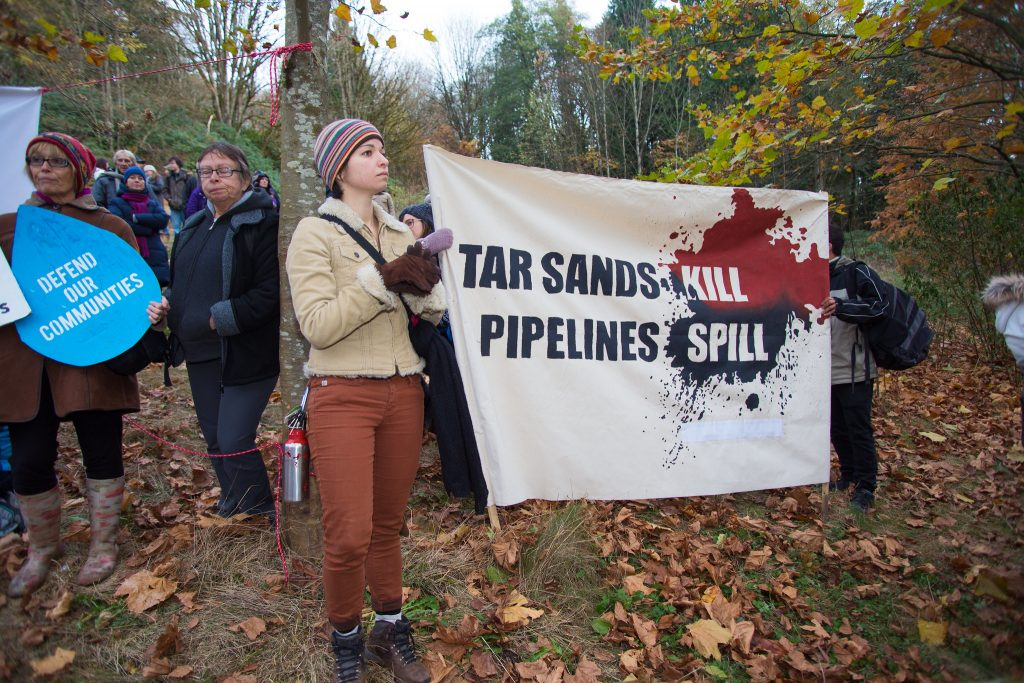 Protest sign against Tar Sand Pipelines