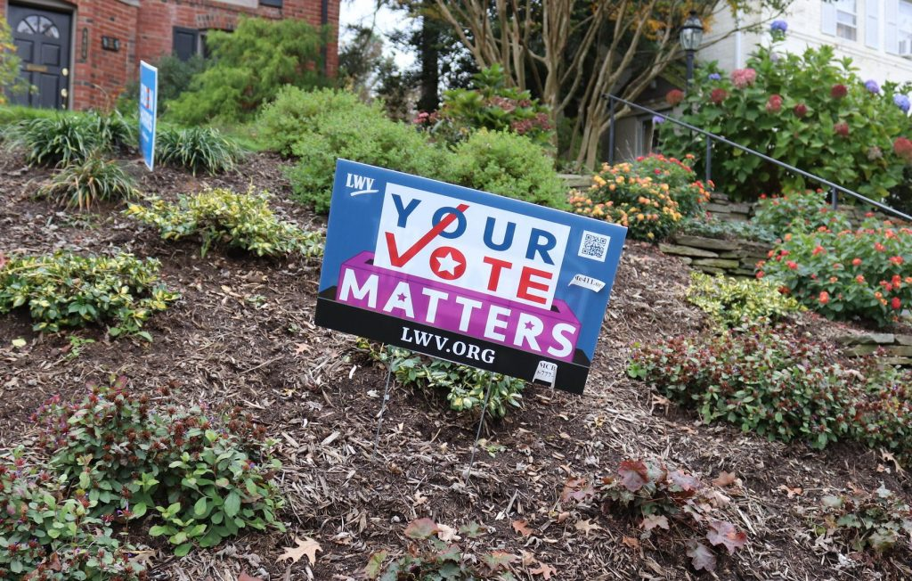 """Yard sign that reads """"Your Vote Matters"""""""